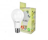 Светодиодная лампа Е27, 12W (груша), 4000К