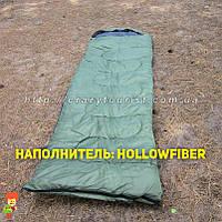 Теплый спальный мешок Royal Camp SP2300-olive (hollowfiber) Польша, фото 1
