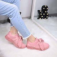Кроссовки женские под Puma Fenty розовые 3476, спортивная обувь