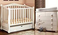 Детская кроватка Prestige 8 с пеленальным комодом Luxuri White