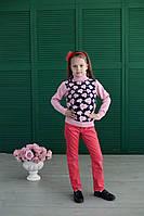 Гольф теплый  Many&Many бледно-розовый, Цветы., фото 1