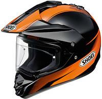 Мотошлем Shoei Hornet DS Sonora TC-8 черный оранжевый S