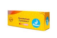 """Полотенца бумажные """"Parus"""" 100шт. двух-ярусный в кор. (28 уп. в ящ.)"""