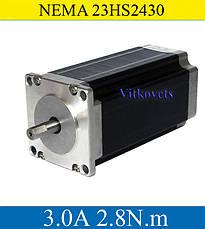 Шаговый двигатель 23HS2430 3.0A 28 кг/см NEMA23, фото 2