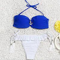 Женский купальник blue-white размер S, фото 1