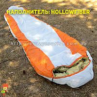 Теплый спальный мешок кокон (hollowfiber)