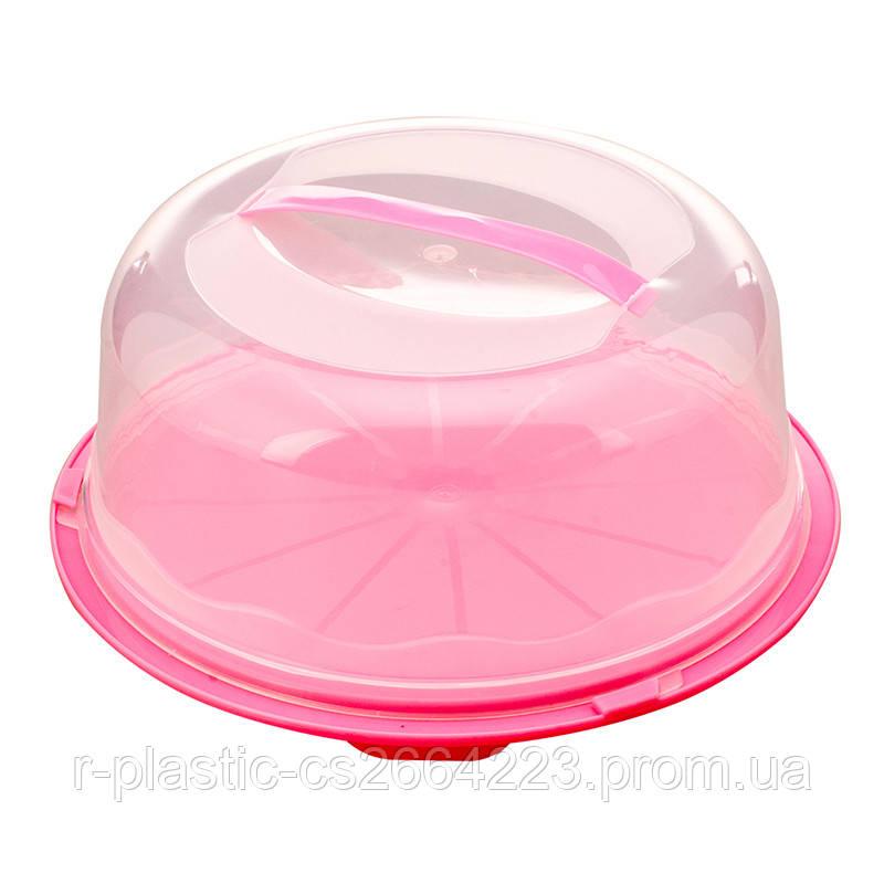 Тортовница R-Рlastic розовая