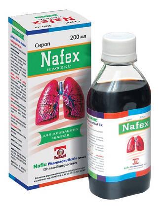 Сироп «Нафекс» –для применения при хронических заболеваний дыхательных путей, способствует смягчению кашля, фото 2