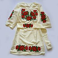Платье вышиванка Украинские маки 42