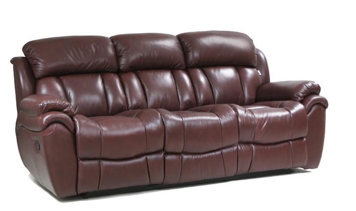 Шкіряний диван Boston, розкладний диван, реклайнер, м'який диван, меблі з шкіри, диван