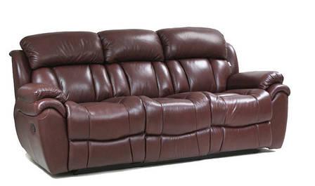 Шкіряний диван Boston, розкладний диван, реклайнер, м'який диван, меблі з шкіри, диван, фото 2