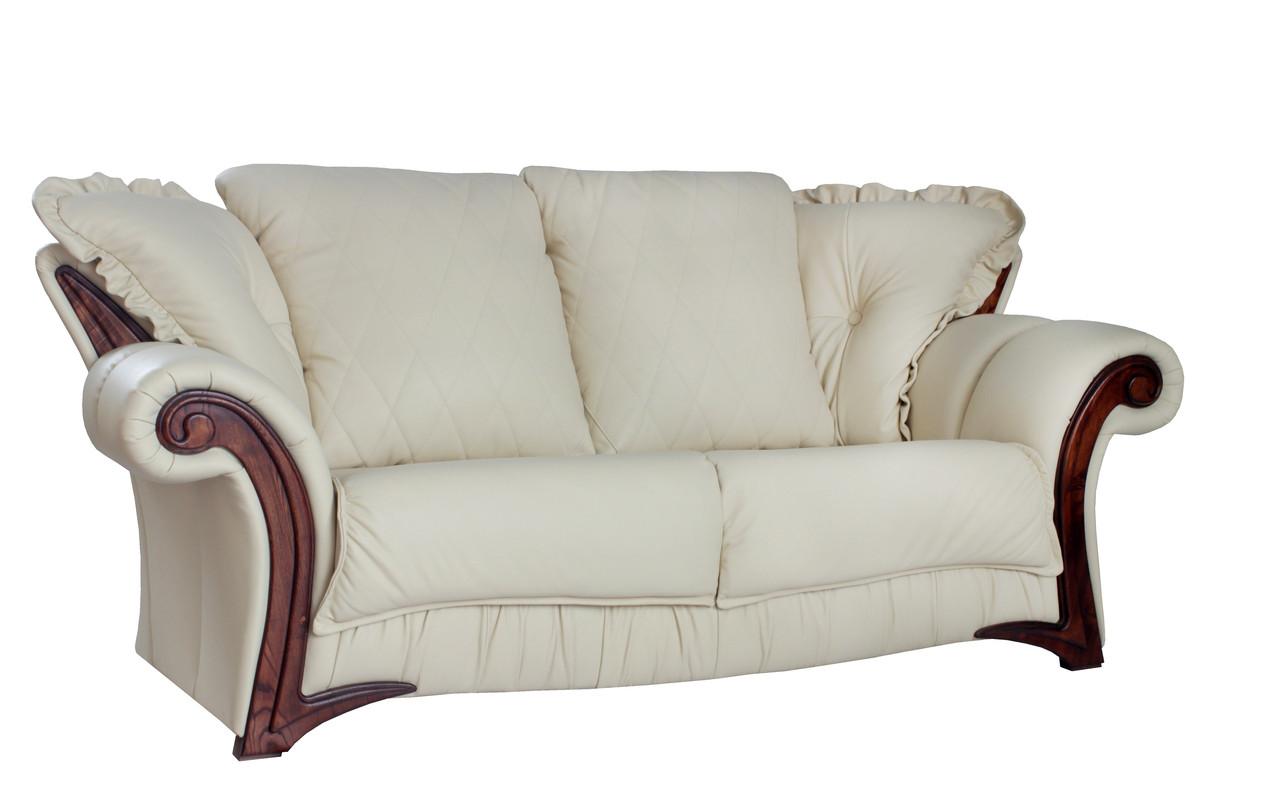 """Стильный кожаный диван """"Mayfaer"""" (Майфаер)"""