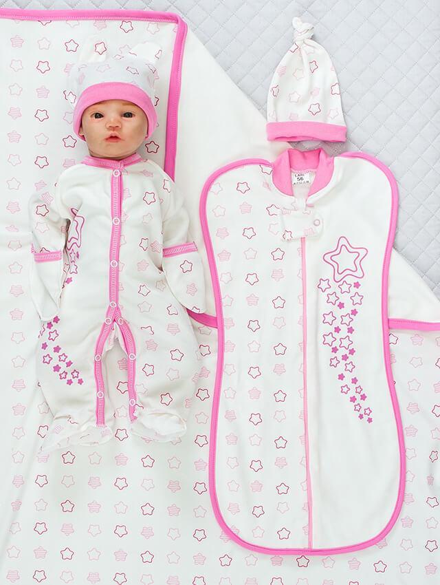 """Набор для новорожденных девочек """"Звёздочка"""", 5 предметов"""