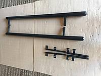 Боковые подножки Chevrolet Niva труба черный мат