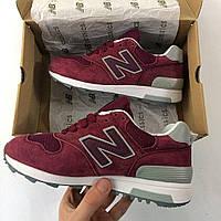 Красные женские кроссовки нью баланс 574, New Balance 574