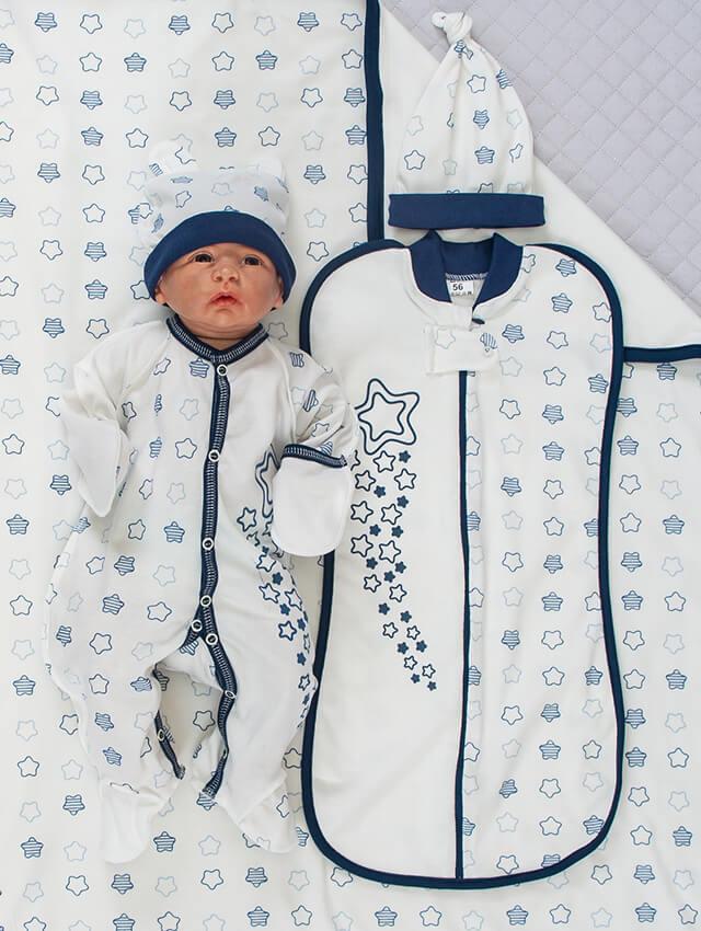 """Комплект для новорожденных мальчиков """"Звёздочка"""", 5 предметов"""
