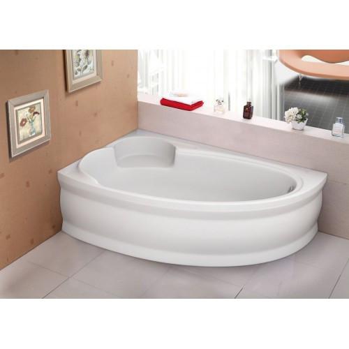 Ванна акрилова асиметрична Belina ліва 170х110 (панель + каркас) Bliss