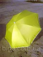 Пляжный зонт с наклоном 1,8м Anti-UF желтый