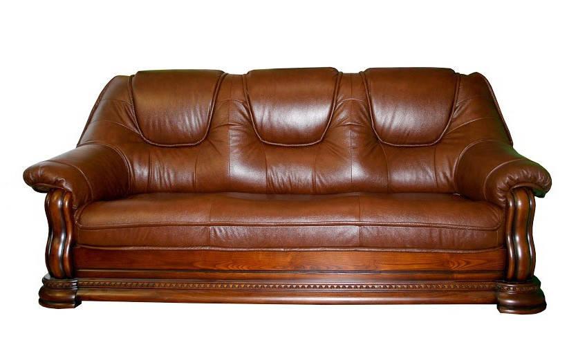 "Классический кожаный диван ""Grizli"" (Гризли) Курьер"