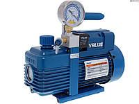 Вакуумный насос Value V-i180SV   (1 ступенчатый вакуумный насос, 198 л/мин) с вакуумметром и отсечным клапаном