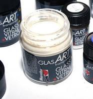 Краска на основе растворителя БЕЛАЯ Marabu glasart 50мл.