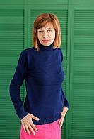 Гольф Many&Many женский, однотонный, цвет тёмно-синий.
