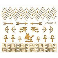 Наклейки на ногти 3D золото YZW 6018