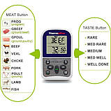 Беспроводной термометр (до 100 м) ThermoPro TP-11 (-9...250 °С) с таймером и 8 режимами для мяса и рыбы, фото 3