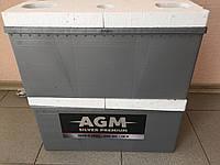 Аккумулятор AGM 6СТ-225, пусковой ток 1500En, габариты 518х275х224, гарантия 24 мес., Премиум класс