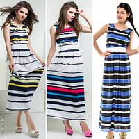Модное женское платье макси принт полоска / Украина / креп-шифон