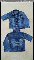 Джинсовый пиджака на девочку 3-7 лет, 8-12 лет