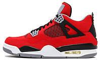 Баскетбольные кроссовки Air Jordan 4 (Найк Аир Джордан) красные