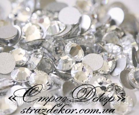 Стразы ss4 без клея Crystal (кристалл прозрачные) (100шт.) холодной фиксации, фото 1