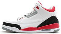 Баскетбольные кроссовки Air Jordan 3 Retro (Найк Аир Джордан Ретро) белые