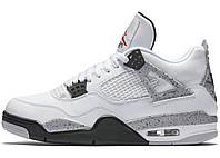 Баскетбольные кроссовки Air Jordan 4 Retro (Аир Джордан Ретро) белые