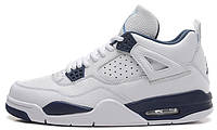 Баскетбольные кроссовки Air Jordan 4 Retro (Найк Аир Джордан 4 Ретро) белые