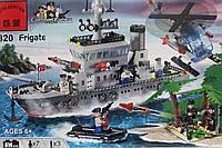 """Конструктор """"Военный корабль """" Brick  614 деталей"""
