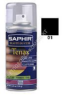 Аэрозольный краситель для гладкой кожи Saphir Tenax Spray, 150 мл, цв. черный (01)