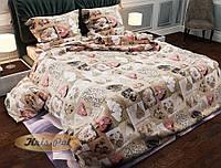 """Романтическое постельное бельё """"КОНФЕТКА"""". Комплект семейный."""