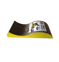 Когтеточка-лежак Волна гофрированный картон + пакетик с мятой