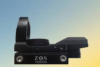 Прицел 1х22х33 ZOS коллиматорный с креплением 11 мм (4 маркера)