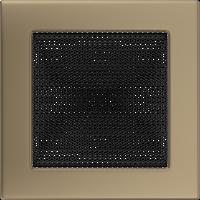 Решетка для камина медь гальваническая, золото гальваническое 17х17 см без жалюзи