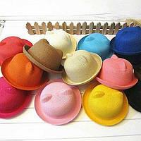 Соломенная шляпка для девочки