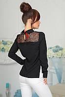 Модная блуза с кружевной кокеткой .4061/1