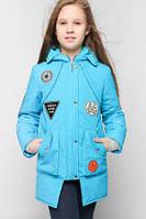 Яркое пальто демисезонное  для девочки.