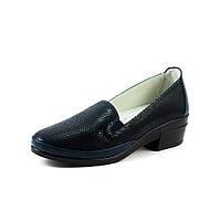 Туфли женские Allshoes 87363-B темно-синяя кожа