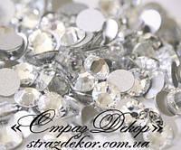 Стразы ss8 без клея Crystal (кристалл прозрачные) (100шт.) холодной фиксации