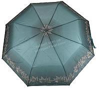 Женский симпатичный прочный зонтик полуавтомат FEELING RAIN art. 302A зеленый (100230)