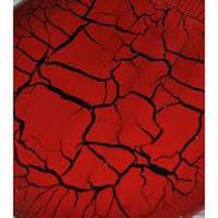 Кракелюрный лак красный Creartec 50мл., фото 1