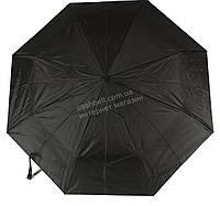 Женский симпатичный прочный зонтик полуавтомат FEELING RAIN art. 302A черный (100236)